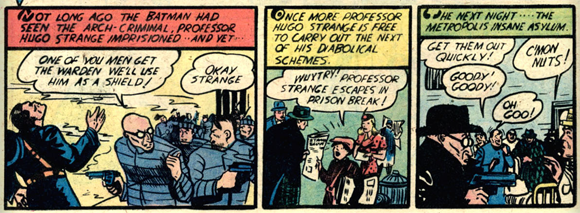 The second appearance of Professor Hugo Strange