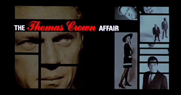 Titlecard of 'The Thomas Crown Affair' (Jewison 1968)