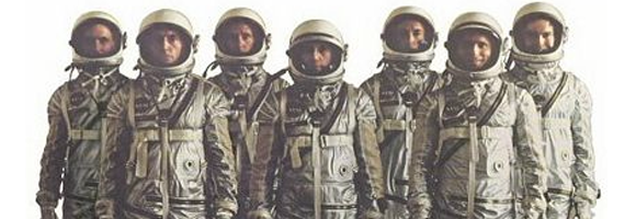 Detail of the promotional poster for 'The Right Stuff' (Kaufman 1983)