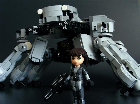 Think Tank and Major Kusanagi LEGO renditions