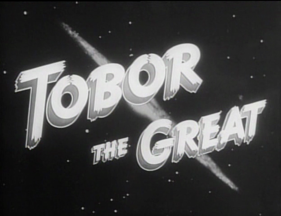 Title card of 'Tobor the Great' (Sholem 1954)