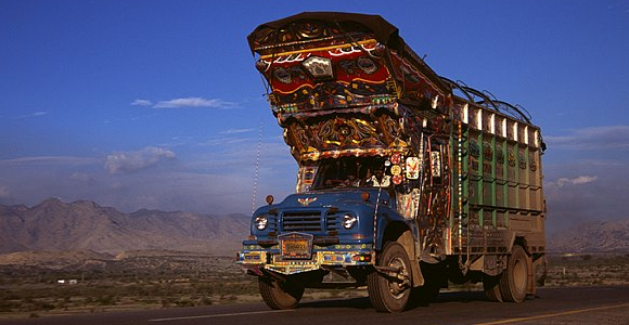 A decorated truck in Pakistan
