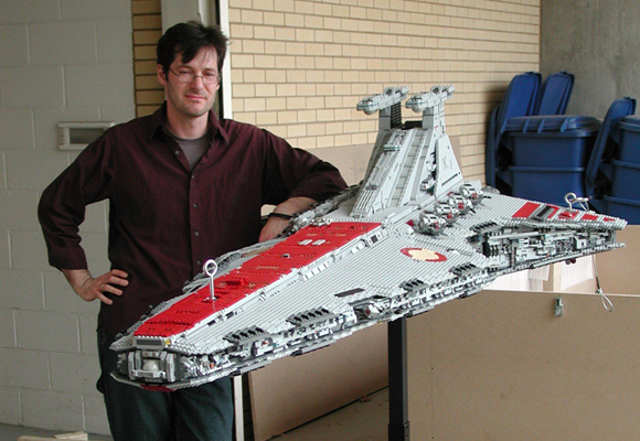 Erik Varszegi with his Venator Class Republic Attack Cruiser