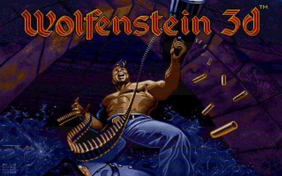 Title splash screen of 'Wolfenstein 3-D' (id Software 1992)